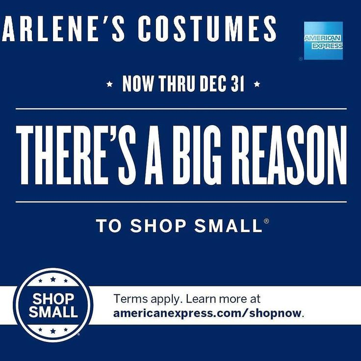 Check out @americanexpress and #shopsmall #shoplocal with us  Contact us at 585-482-8780 for more information or check out select costumes and accessories on our Amazon page or website www.arlenescostumes.com  #smallbusiness #localbusiness