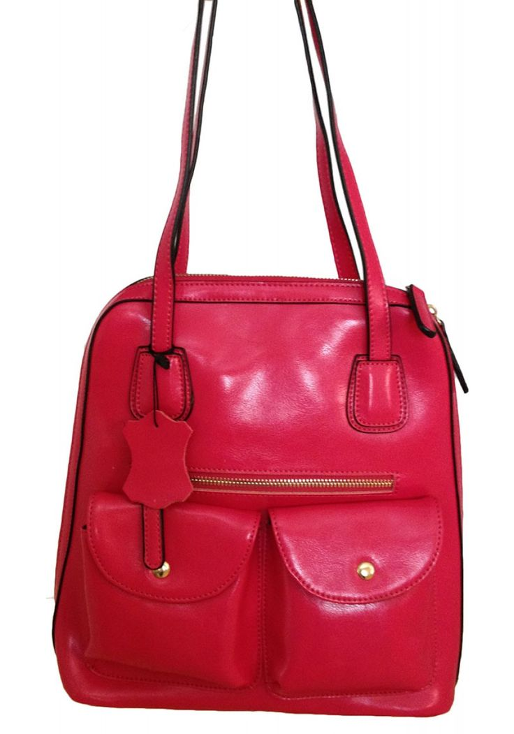 Susanna Tino -- Women's Pink 2 in 1 Backpack/Shoulder bag