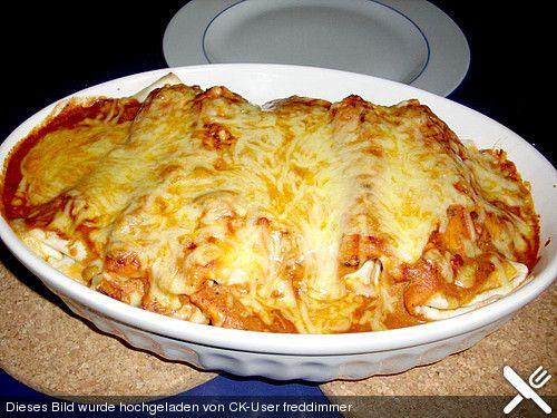 Enchiladas mit Hähnchen und Mais(Mexican Chicken Wraps)