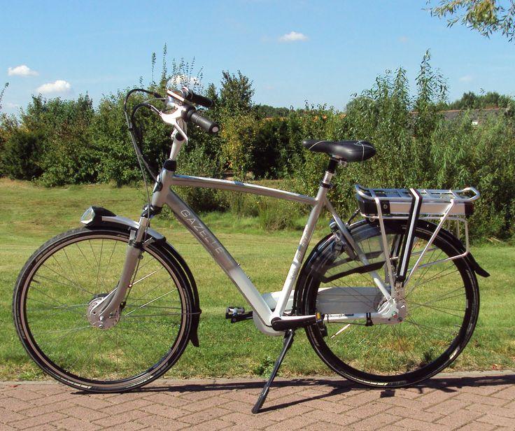 Gazelle omgebouwd naar elektrische fiets met een Green Drive Comfort Ombouwset elektrische fiets rollerbrake met LiFePo4 350Wh accu