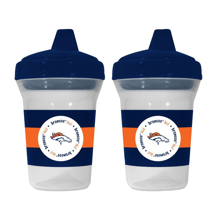 Denver Broncos Team Spirit Sippy Cups, Set of 2