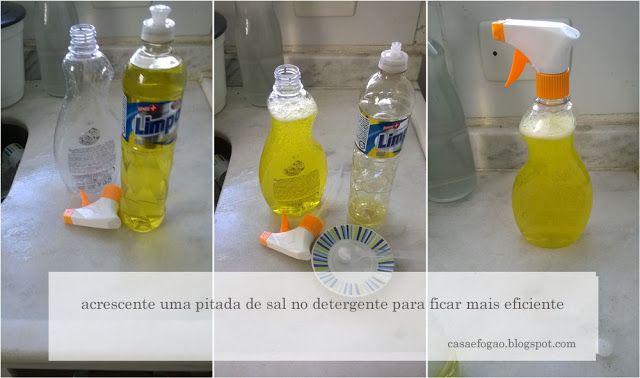 Casa e Fogão: Como eu uso o detergente para lavar louças
