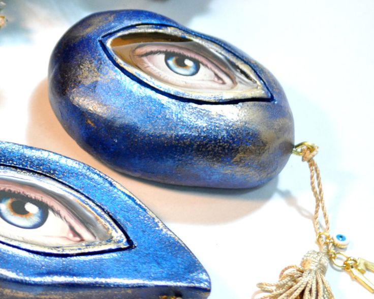 Ceramic Eye, Good Luck Charms, Good Luck Gift, Charms, Eye, Gift For Home, Gift For Her, Gift For Him, Good Luck, Eye evil by AnthiCreativeTouch on Etsy
