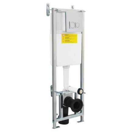 Concealed Cistern Wall Frame with Chrome Push Button - Image 1