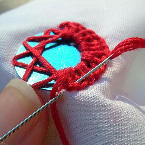 mirror stitch as in cloths from India tutorial