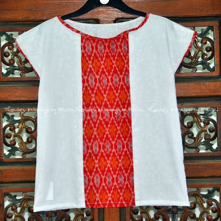 tenun ikat top Jingga Egon Flores Top | DhieVine | Redefine You