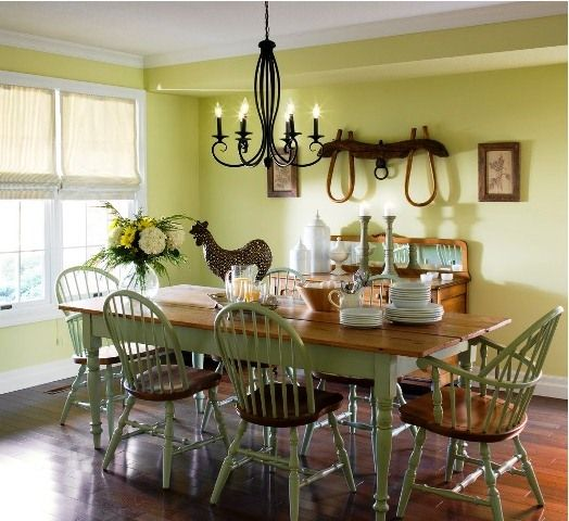 Dining Room Wall Paint Fascinating Country Dining Room Color Schemes