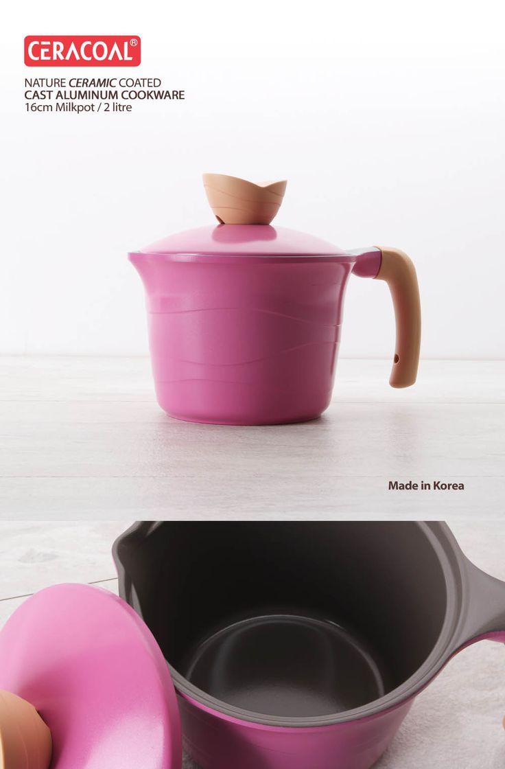 CERACOAL - Milkpot 16cm/ 2litre | Eco-friendly non-stick ceramic coating