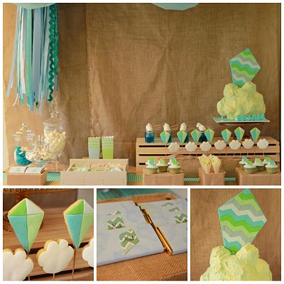 chevron kite party and many other cute party ideas:  love the princess cake pops