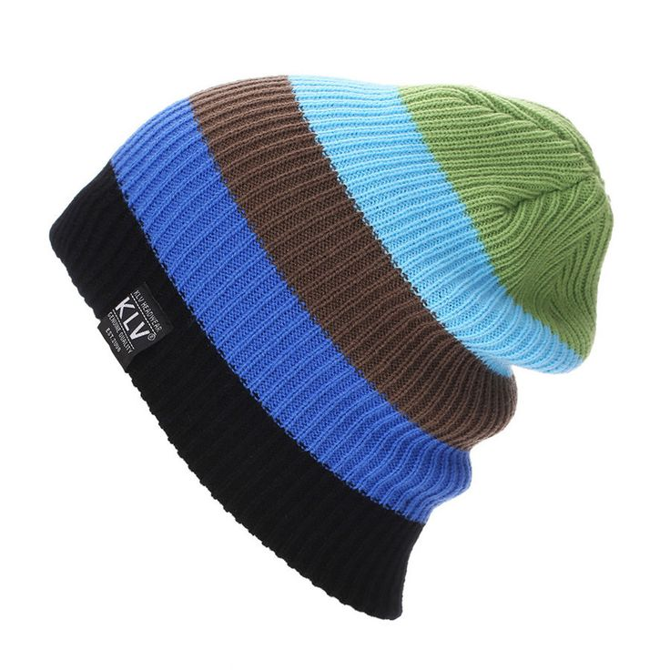 3 Colors Casual Caps. Hip Pop Knit Hats ,Women Winter Beanies .