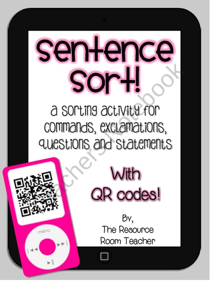 Sentence Sort with QR Codes! (technology themed!)