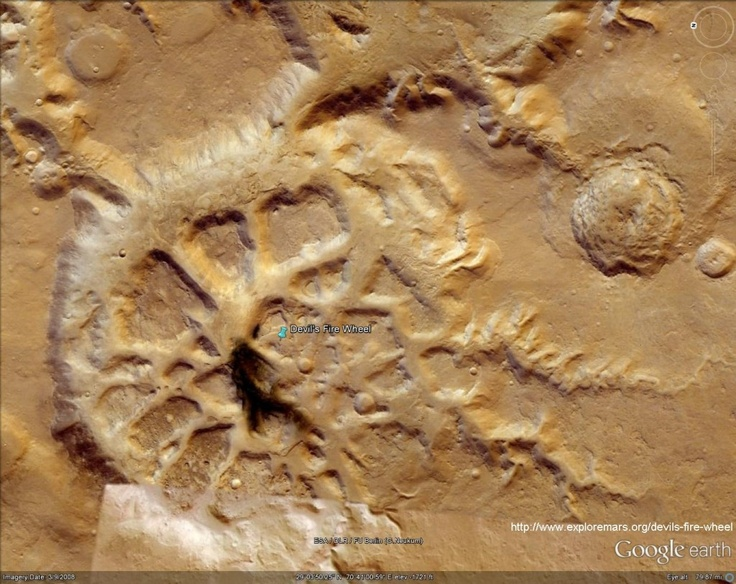 how to get to mars on google earth