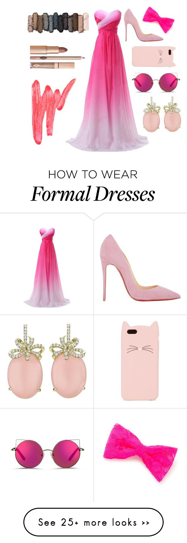"""Pinky pie"" by alexen on Polyvore featuring Christian Louboutin, claire's, Kate Spade, Matthew Williamson, Urban Decay and Ilia"