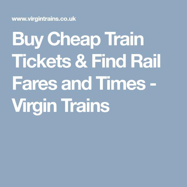 Buy Cheap Train Tickets & Find Rail Fares and Times - Virgin Trains
