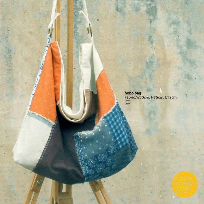 Medium Hobo Bag #whiteorangefarm #mosseash #handmade #handmadebag #cotton #canvas