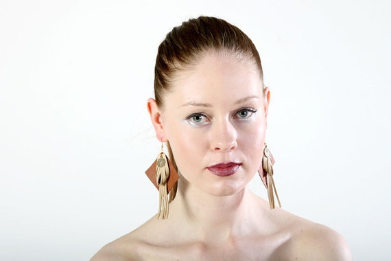 Square One earrings from upcycled material by PiiaMyllerDesign, €15.00