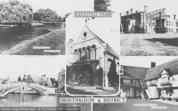 Huntingdon, Composite c.1965, from Francis Frith