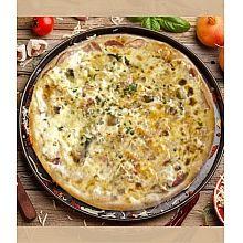 Пицца с беконом и балыком маленькая