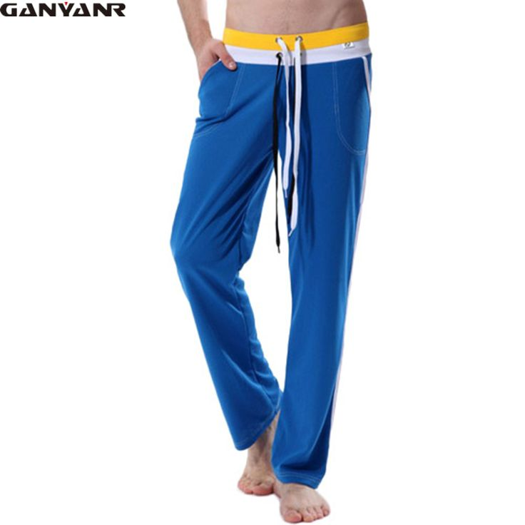 GANYANR Brand mens Full Length long pants sexy sports gym yoga running Sweatpants Athletic Pants Plus Size Training Trousers -- AliExpress Affiliate's buyable pin. Click the VISIT button for detailed description on www.aliexpress.com #Yogawears