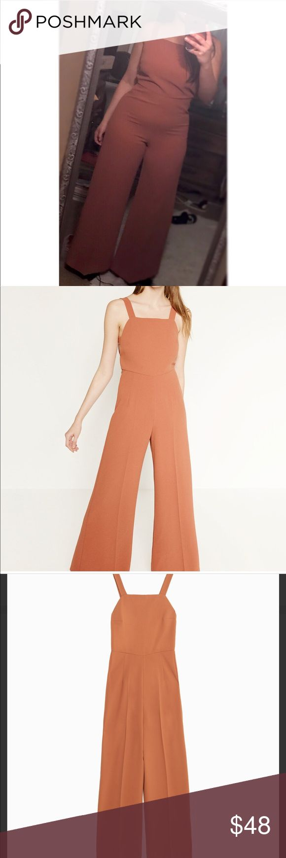 Zara jumpsuit Coral Zara jumpsuit with bell bottoms very vintage look Zara Pants Jumpsuits & Rompers