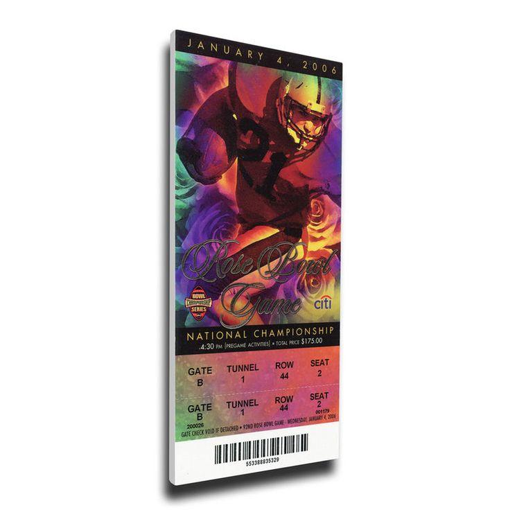 Texas Longhorns 2006 Rose Bowl Mega Ticket