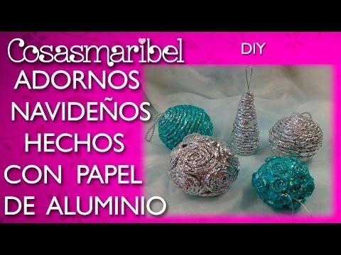 Adornos navideños hechos con papel de plata.(¡¡No te lo vas a creer!!) - YouTube