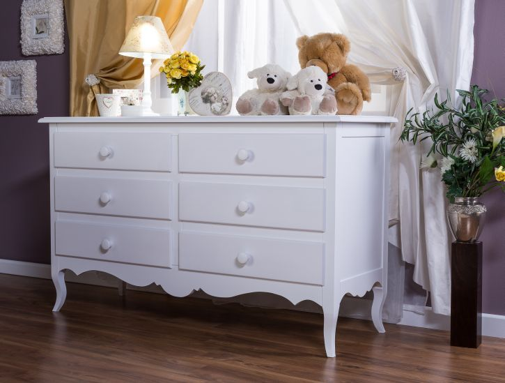 Silva Furniture Sophia 6 Drawer Dresser