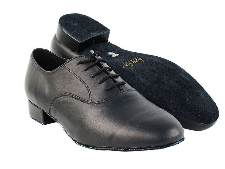 Classic Black Leather Wide Men's Standard Shoes