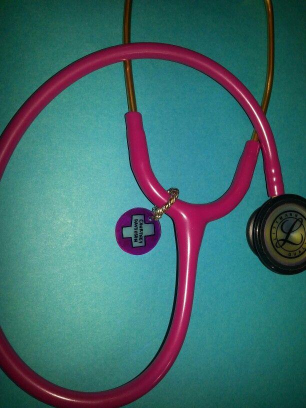 Stethoscope shrinky dink name tag.