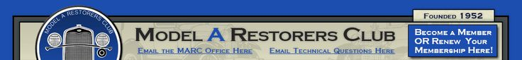 Model A Restorers Club website page with info on becoming a member. Benefits of being a member are listed here.