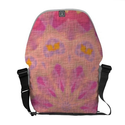 Pink abstract pattern messenger bag