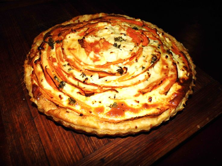 #tastemag Pumpkin & goats cheese tart Yummy Cooked by Natalie Malseed