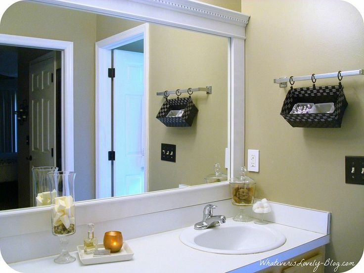 Create Photo Gallery For Website Bathroom Mirror Framed with Crown Molding