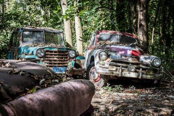 Die Fahrzeuge findet Michael Fröhlich auf der ganzen Welt. #homestory #homestoryde #home #garden #oldtimer #inspiring #art #decoration