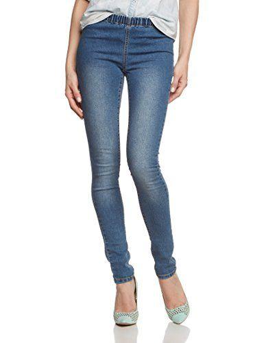 PIECES Damen Skinny Jeanshose Funky Fast Denim Legging, Gr. 36 (Herstellergröße: S/M), Blau (Medium Blue Denim)