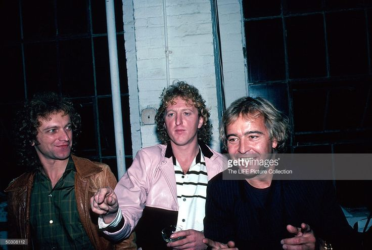Musician Mick Jones (R) w. other members of rock group Foreigner.