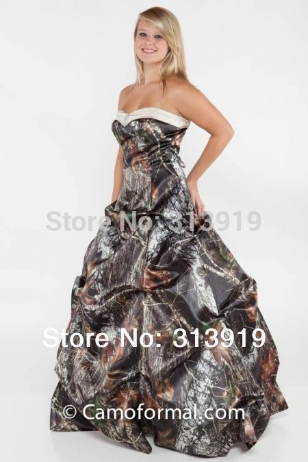 >> Click to Buy << strapless  printing mossy oak camo camouflage  wedding dresses 2017 vestido de noiva size 0 custom make free shipping #Affiliate
