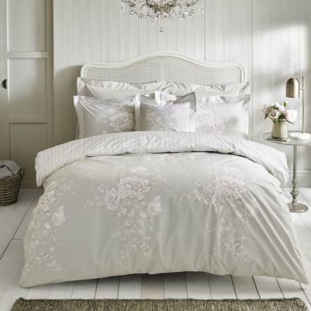 Holly Willoughby Floral Luxurious Sage Grey Emmy Duvet Cover