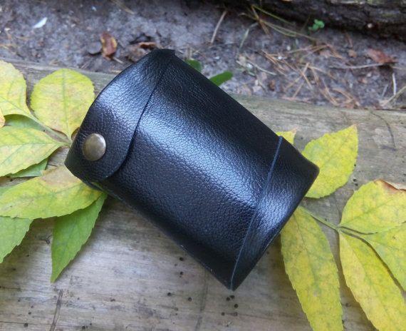Herren Reisegeldbörse, Weihnachtsgeschenk für Ehemann, Herren Geschenk, schwarze Herren Leder Geldbörse   – Holiday gift / Men's Accessories