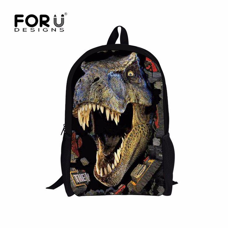 3D Zoo Hewan Sekolah Tas untuk Anak Laki-laki Dinosaurus Harimau Kuda anjing Hiu Owl Tas Sekolah Bookbag Anak Ransel untuk Remaja Anak gadis