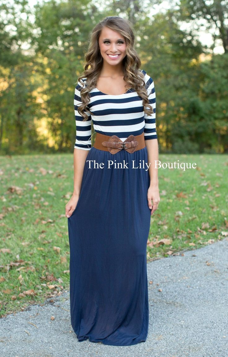 The Pink Lily Boutique - Magic Moments Navy Maxi , $38.00 (http://thepinklilyboutique.com/magic-moments-navy-maxi/)