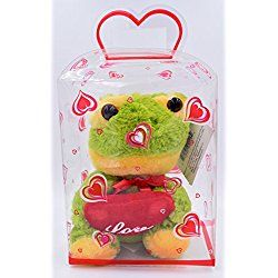 Green Love Frog Valentine's Day 5 Inch Plush By Charming Toys