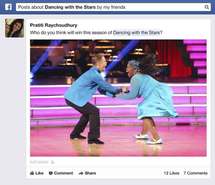"""#SocialMediaNews: Facebook announced an update to Graph Search on Monday that will enable users to search for conversation topics within status updates, comments and posts. Some users with Graph Search can now browse Facebook for topics of interest — for example, """"posts about Dancing with the Stars"""" or simply """"Dancing with the Stars.""""  Source: Mashable"""
