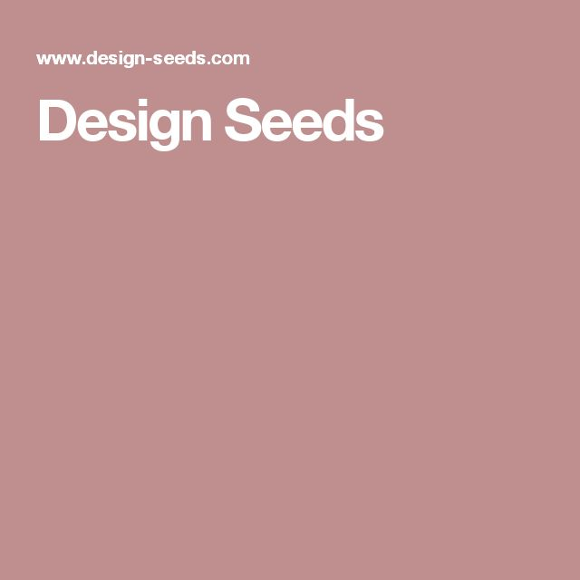 Design Seeds 🔺