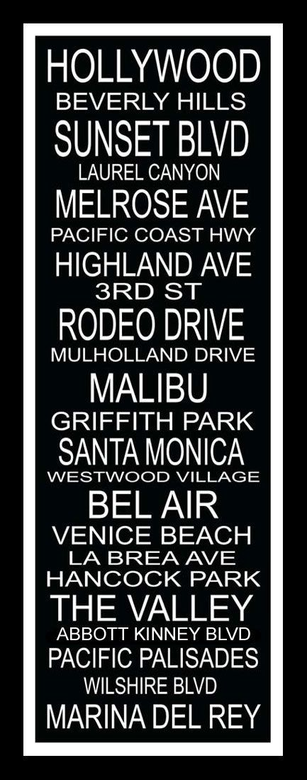 Items similar to Subway Sign Art Los Angeles Destination Typography Print 11.75x36 on Etsy