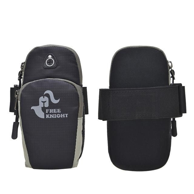 Sport Armband Case Zippered Fitness Running Arm Band Bag Pouch Jogging Workout Cover Bag