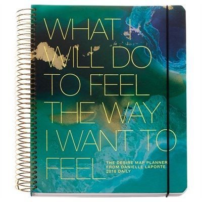 "Created by Danielle LaPorte, bestselling author and member of Oprah''s Super Soul 100, The Desire Map Planner is for women who want to put their soul on the agenda. What I will do to feel the way I want to feel...is the daily declaration you make with this planner. And with fresh daily Soul Prompts like, ""What do you want to revolutionize?"" ""How do you want to feel in your body?"" and sections for Gratitude notes and a weekly Stop Doing List - this p..."