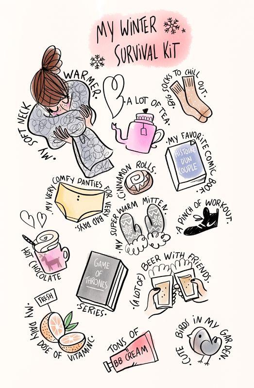 ❄ My Winter Survival Kit ♡ Il mio Kit di Sopravvivenza Invernale ❄ - Art by Megalie