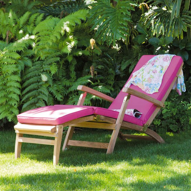 great matelas bain de soleil fuchsia sunny with chaise boston maison du monde. Black Bedroom Furniture Sets. Home Design Ideas