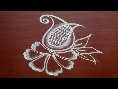 Special freehand rangoli for diwali. - YouTube